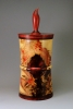 Flame box elder and resin lidded box