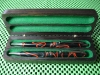 Acrylic-based Material Pen Set in African Blackwood Box