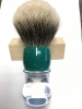 Clear/green turquoise sparkle shaving brush