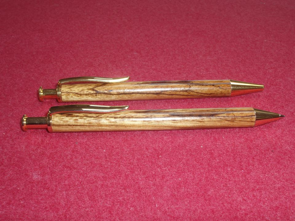 Zebrawood Pen and Pencil Set.JPG