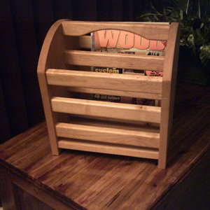 Magazine rack in Maple
