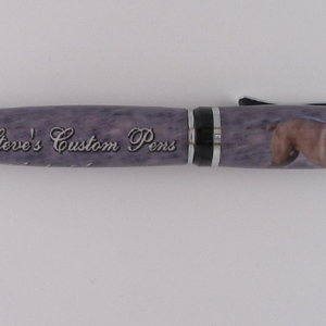 Company pen with my dog on it.