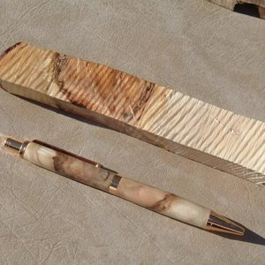 Spalted Maple w/ Uncut Blank