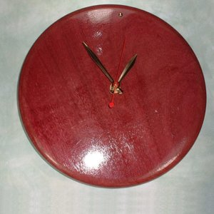 Purpleheart Clock
