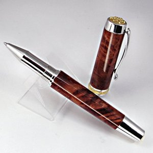 Statesman Rollerball with Redwood Burl - med