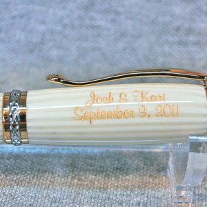 Wedding engraved pen