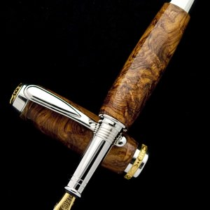 HRB Swirly Burl Jr. Statesman Fountain Pen