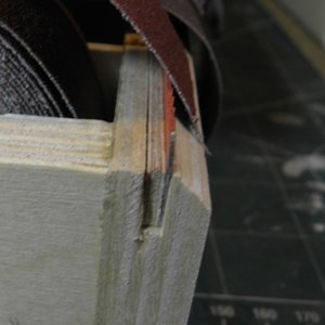Sandpaper caddy tear-off attachment