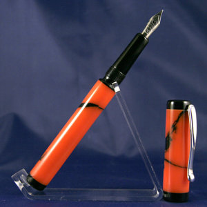 Orange Camo Marble Kitless Fountain Pen 2