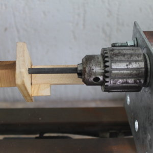 Off center squaring pen blank for lathe update