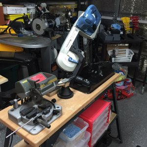 My Shop: Proxxon Chop Saw, LMS Metal Band Saw and DeWalt Scroll Saw