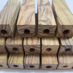 2 1/2 X 3/4 X 3/4 ~ PRE-DRILLED 7MM ~ JERUSALEM OLIVE WOOD pen blanks