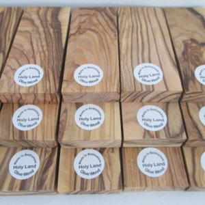 BETHLEHEM OLIVE WOOD KNIFE SCALES BLANKS