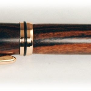 Kingwood and Copper Rollerball