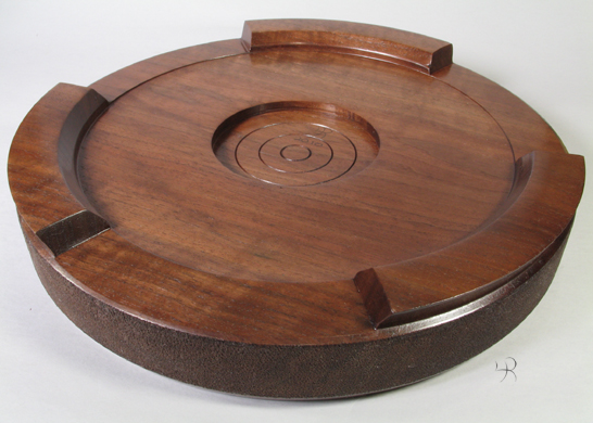 "12"" Walnut Carving Display Base"
