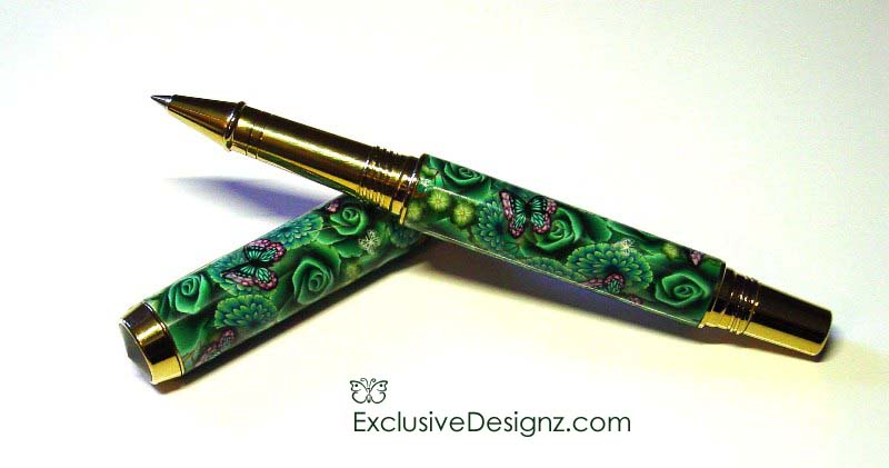Green Rose~Polymer clay