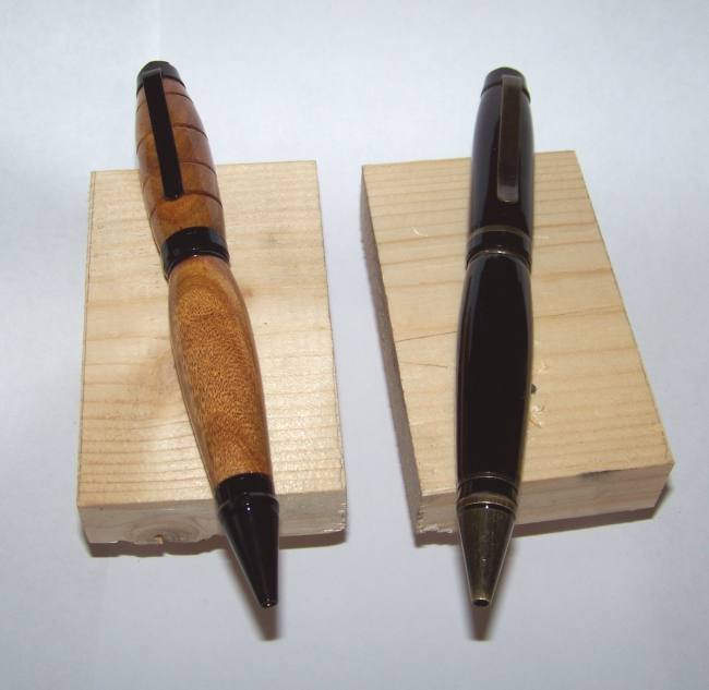 Pens dipped in poly.